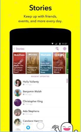 تطبيق snapchat 2017 للاندرويد مجانا