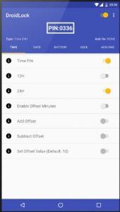 تحميل تطبيق DroidLock لتغيير قفل الشاشة مع تغيير الدقائق