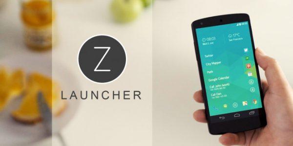 تغيير شكل الهاتف ببرنامج Z Launcher