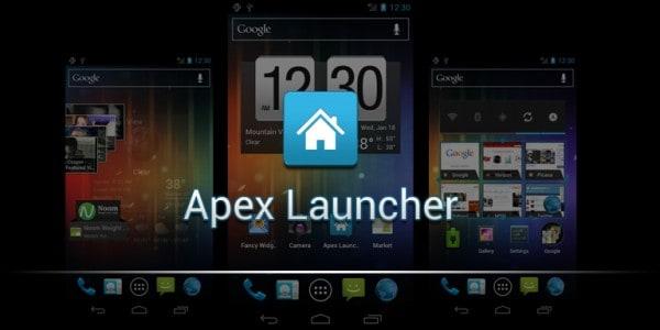 تغيير شكل الهاتف من خلال برنامج Apex Launcher