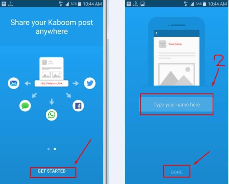 Kaboom - Self-destructing Post تطبيق يقوم بسمح جميع الصور والملفات التى ترسلها تلقائياً