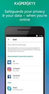 تطبيق Kaspersky VPN service