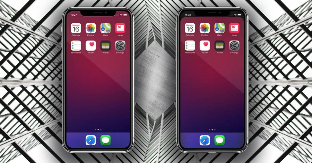 كيفية إخفاء حافه iPhone X