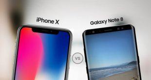 iPhone X و Note 8