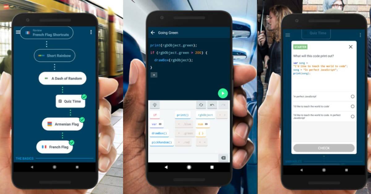 تحميل تطبيق grasshopper لتعلم لغات البرمجة للاندرويد والايفون