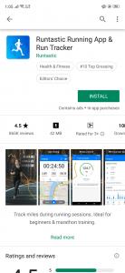 تطبيق Runtastic Running App & Run Tracker