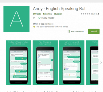 تطبيق English With Andy