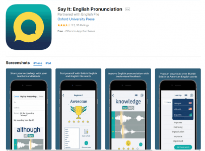 تطبيق Say It English Pronunciation