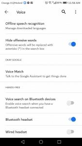 أكثر الأوامر استخداماً في تطبيق Google Now