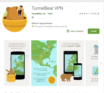 Tunnel Bear VPN تطبيق