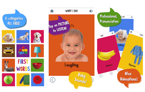 أفضل تطبيقات أطفال First Words for Baby