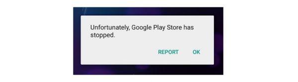 مشكلة توقف متجر جوجل بلاي عن العمل
