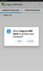 شرح كيفية استخدام تطبيق Copy to SIM Card